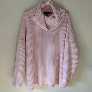 🎃 Ellos pink cowl neck sweater